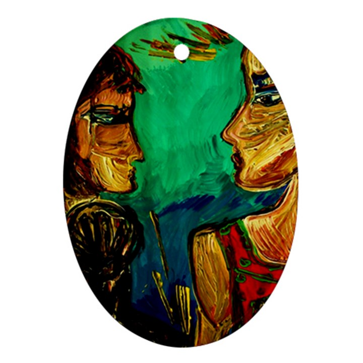Young Witches Oval Ornament (Two Sides)