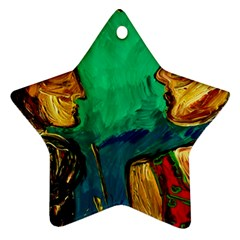 Young Witches Star Ornament (two Sides)