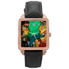 Young Witches Rose Gold Leather Watch