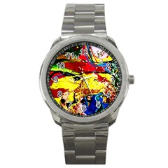 Yellow Roses 3 Sport Metal Watch