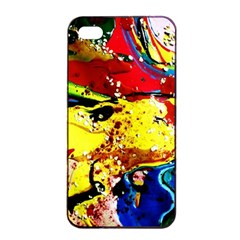 Yellow Roses 3 Apple Iphone 4/4s Seamless Case (black)