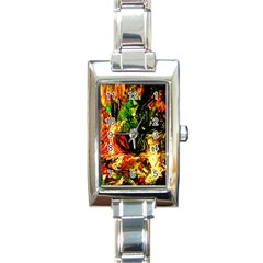 Sunset In A Desert Of Mexico Rectangle Italian Charm Watch