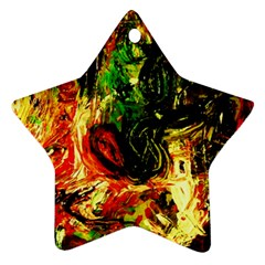 Sunset In A Desert Of Mexico Ornament (star)