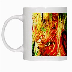 Sunset In A Desert Of Mexico White Mugs