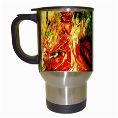 Sunset In A Desert Of Mexico Travel Mugs (white)