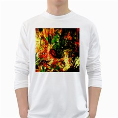 Sunset In A Desert Of Mexico White Long Sleeve T Shirts
