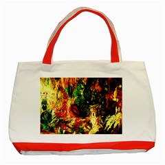 Sunset In A Desert Of Mexico Classic Tote Bag (red)