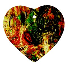 Sunset In A Desert Of Mexico Heart Ornament (two Sides)
