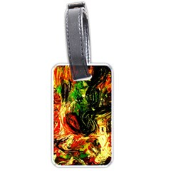 Sunset In A Desert Of Mexico Luggage Tags (one Side)