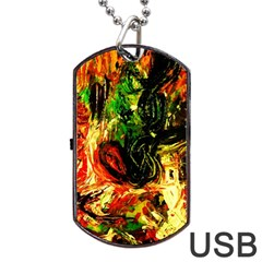 Sunset In A Desert Of Mexico Dog Tag Usb Flash (two Sides) by bestdesignintheworld