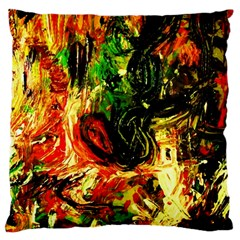 Sunset In A Desert Of Mexico Large Cushion Case (one Side) by bestdesignintheworld