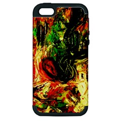 Sunset In A Desert Of Mexico Apple Iphone 5 Hardshell Case (pc+silicone)