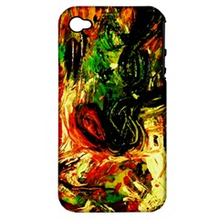 Sunset In A Desert Of Mexico Apple Iphone 4/4s Hardshell Case (pc+silicone) by bestdesignintheworld