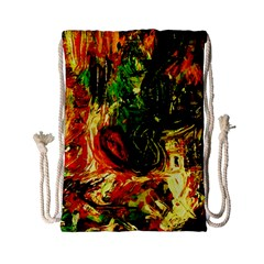 Sunset In A Desert Of Mexico Drawstring Bag (small)