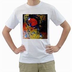 Lunar Eclipse 6 Men s T Shirt (white) (two Sided)