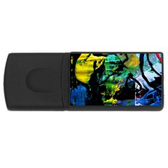 Rumba On A Chad Lake 10 Rectangular Usb Flash Drive by bestdesignintheworld