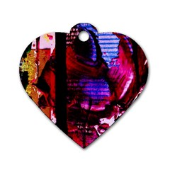 Absurd Theater In And Out 4 Dog Tag Heart (two Sides)