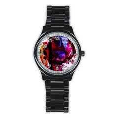 Absurd Theater In And Out 4 Stainless Steel Round Watch