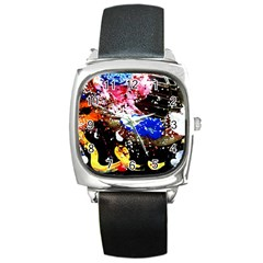 Smashed Butterfly 5 Square Metal Watch