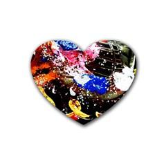 Smashed Butterfly 5 Rubber Coaster (heart)  by bestdesignintheworld