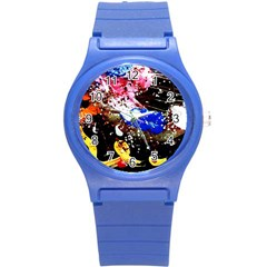 Smashed Butterfly 5 Round Plastic Sport Watch (s)