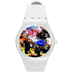 Smashed Butterfly 5 Round Plastic Sport Watch (m) by bestdesignintheworld