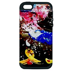 Smashed Butterfly 5 Apple Iphone 5 Hardshell Case (pc+silicone)