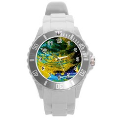 One Minute Egg 4 Round Plastic Sport Watch (l)