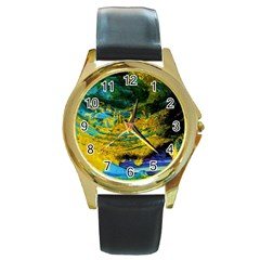 One Minute Egg 4 Round Gold Metal Watch