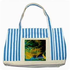 One Minute Egg 4 Striped Blue Tote Bag