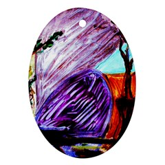 House Will Be Built 10 Ornament (oval) by bestdesignintheworld