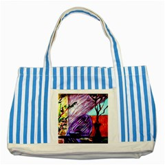 House Will Be Built 10 Striped Blue Tote Bag