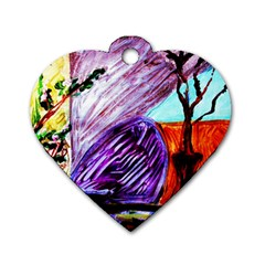 House Will Be Built 10 Dog Tag Heart (two Sides)