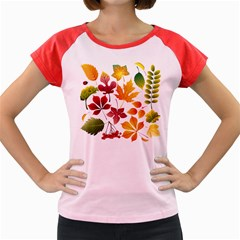 Beautiful Autumn Leaves Vector Women s Cap Sleeve T Shirt