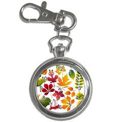 Beautiful Autumn Leaves Vector Key Chain Watches