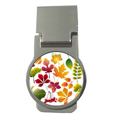 Beautiful Autumn Leaves Vector Money Clips (round)