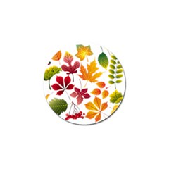 Beautiful Autumn Leaves Vector Golf Ball Marker