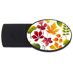 Beautiful Autumn Leaves Vector Usb Flash Drive Oval (2 Gb)