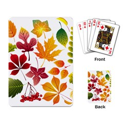 Beautiful Autumn Leaves Vector Playing Card