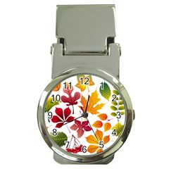 Beautiful Autumn Leaves Vector Money Clip Watches