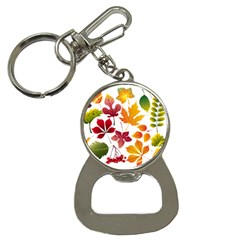 Beautiful Autumn Leaves Vector Button Necklaces by Nexatart