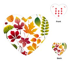 Beautiful Autumn Leaves Vector Playing Cards (heart)  by Nexatart