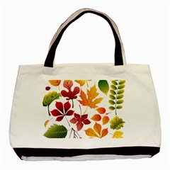 Beautiful Autumn Leaves Vector Basic Tote Bag