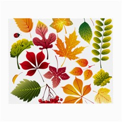 Beautiful Autumn Leaves Vector Small Glasses Cloth (2 Side)