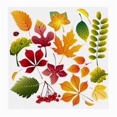 Beautiful Autumn Leaves Vector Medium Glasses Cloth (2 Side)