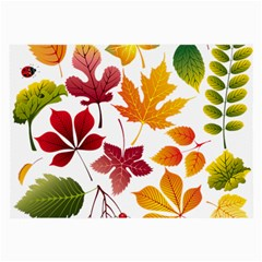 Beautiful Autumn Leaves Vector Large Glasses Cloth