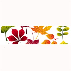 Beautiful Autumn Leaves Vector Large Bar Mats