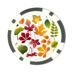 Beautiful Autumn Leaves Vector Poker Chip Card Guard