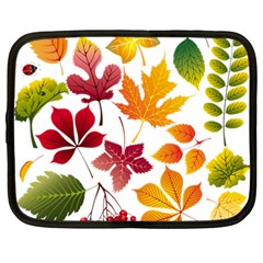 Beautiful Autumn Leaves Vector Netbook Case (large)