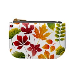 Beautiful Autumn Leaves Vector Mini Coin Purses